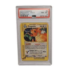 2002 Pokemon Dragonite – Holo Expedition PSA 8