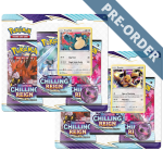 Pokemon TCG Chilling Reign Three Booster Blister Eevee & Snorlax PRE-ORDER