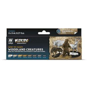 Wizkids Premium Paint Set by Vallejo: Woodland Creatures