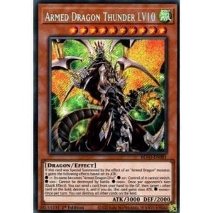 Armed Dragon Thunder LV10 Secret Rare 1st Edition BLVO-EN001 NM-M
