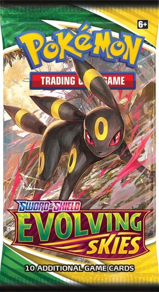 Pokemon TCG Evolving Skies Booster Art - Umbreon
