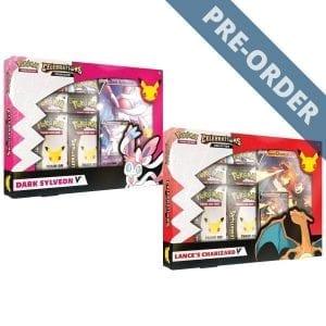 Pokemon TCG Celebrations Collections V Box Lance's Charizard V & Dark Sylveon V (Set of 2) PRE-ORDER