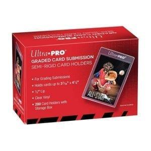 UTLRA PRO CARD SLEEVE Semi Rigid 1/2″ Lip Tall Sleeves (200ct)